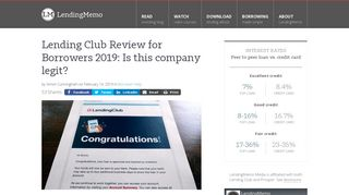 Lending Club Review for Borrowers: Is this company legit?