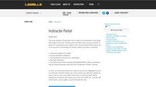 Instructor Portal - Les Mills