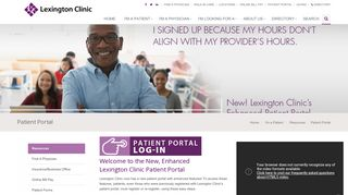 Patient Portal - Lexington Clinic