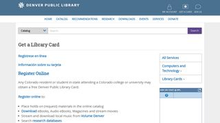 Get a Library Card | Denver Public Library