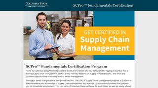 LINCS Supply Chain Management Program at Columbus State