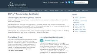 SCPro™ Fundamentals Certification - cscmp