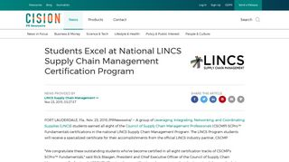 Students Excel at National LINCS Supply Chain Management ...