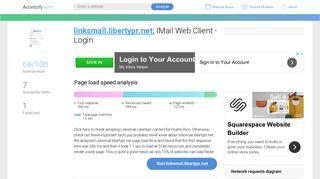 Access linksmail.libertypr.net. IMail Web Client - Login