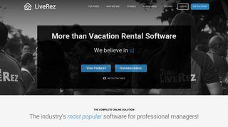 Vacation Rental Software   Websites   CRM by LiveRez