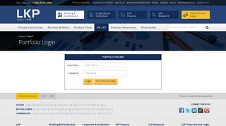 Portfolio Tracker - LKP Securities