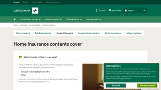 Contents Insurance - Home Insurance - Lloyds Bank