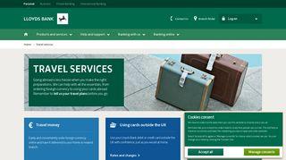 Lloyds Bank - Travel - Travel Insurance & Money