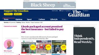 Lloyds packaged account promised the best insurance – but failed to ...