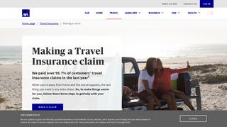 Making a claim   Travel Insurance   AXA UK