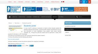 Students portal - Universiteti Europian i Tiranes