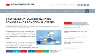Best Student Loan Refinancing Bonuses And Promotional Offers