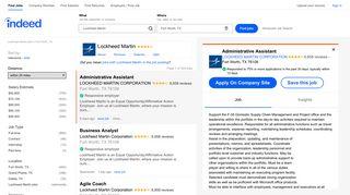 Lockheed Martin Jobs, Employment in Fort Worth, TX | Indeed.com