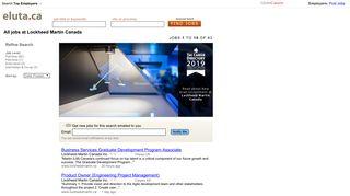 All jobs at Lockheed Martin Canada | Eluta.ca