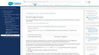 Grant Login Access - Salesforce Help