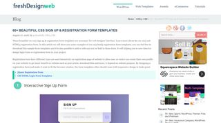 60+ Beautiful CSS Sign up & Registration Form Templates ...