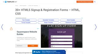 20+ HTML5 Signup & Registration Forms - HTML, CSS | Free ...