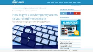 How to grant temporary access to WordPress dashboard without ...