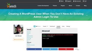Creating a WordPress User when you don't have an existing admin ...