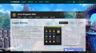 Login Bonus | Aura Kingdom Wiki | FANDOM powered by Wikia