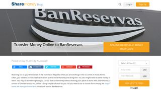 Transfer Money Online to BanReservas - Sharemoney Blog
