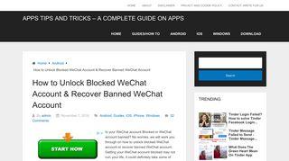 Login self-service wechat allowed blocked unlock How to