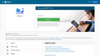 DIRECTV: Login, Bill Pay, Customer Service and Care Sign-In - Doxo