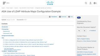 ASA Use of LDAP Attribute Maps Configuration Example - Cisco