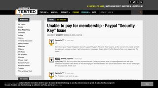 Unable to pay for membership - Paypal