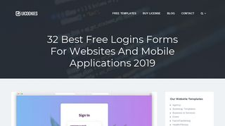30 Best Free Login Forms For Websites And Mobile Applications