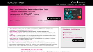 Recognition Mastercard from House of Fraser