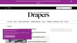 Department store: House of Fraser   Drapersonline.com