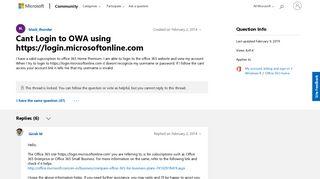 Cant Login to OWA using https://login.microsoftonline.com ...