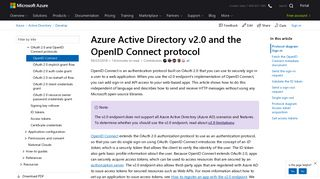 Azure Active Directory v2.0 and the OpenID Connect protocol ...
