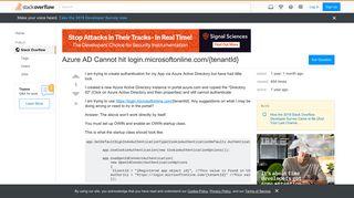 Azure AD Cannot hit login.microsoftonline.com/{tenantId} - Stack ...