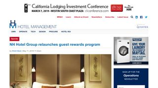 NH Hotel Group relaunches guest rewards program | Hotel Management