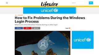 How to Fix Problems During the Windows Login Process - Lifewire
