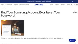 Find Your Samsung Account ID or Reset Your Password