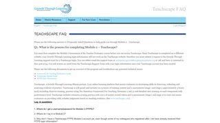 Teachscape FAQ - Growth Through Learning