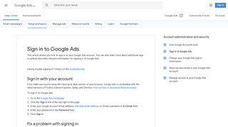 Sign in to Google Ads - Google Ads Help - Google Support