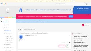 How can I log in to my AdWords Express Account ?> - The Google ...
