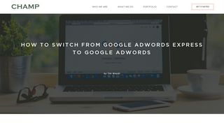 How to switch from Google AdWords Express to Google AdWords