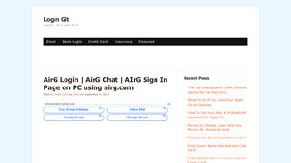 AirG Login | AirG Chat | AIrG Sign In Page on PC using airg.com ...