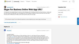 Skype For Business Online Web App URL? - Microsoft Community