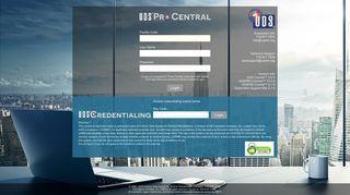 UDS Central™ Software Logon Information - udsmr