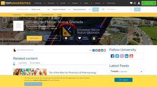 Universidad Militar Nueva Granada   Top Universities