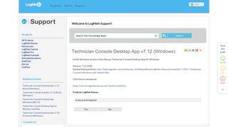 Technician Console Desktop App v7.12 (Windows) - LogMeIn Support