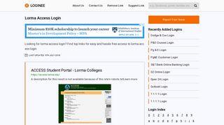 Lorma Access Login