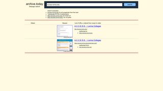 access.lorma.edu: ACCESS :: Lorma Colleges - Archive.today