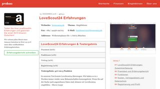 Lovescout login